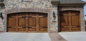 Wood panel door.
