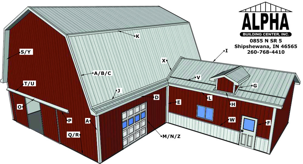 Metal Trim Callouts on barn