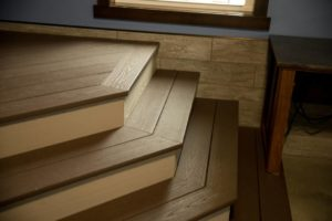 Custom Brown Vinyl Interior Stairs