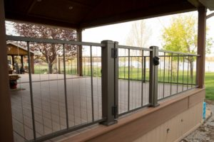 Custom Latches with Lock on Aluminum Railing