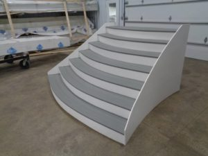 Custom Vinyl Curved Stairs