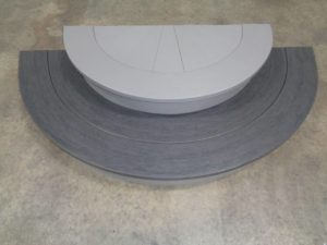 Two toned Gray Vinyl Stairs Curved