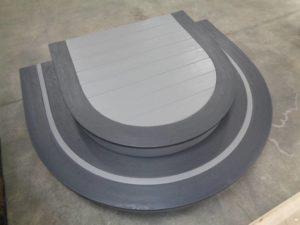 Vinyl Curved Front Steps